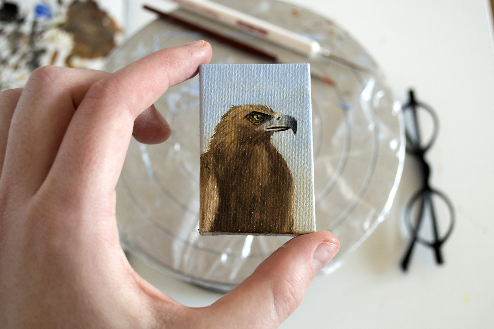 miniature-painting-golden-eagle