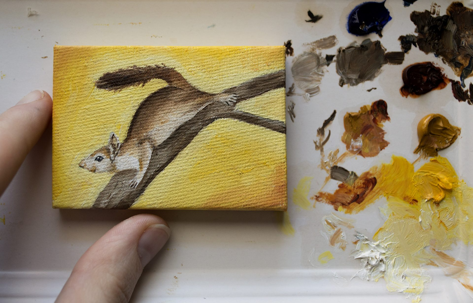 miniature-painting-red-squirrel